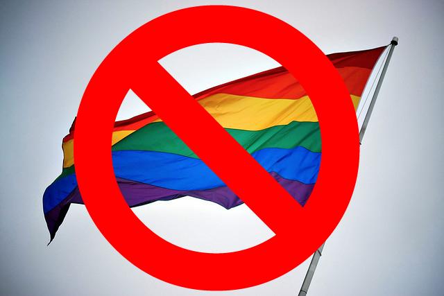 no rainbow flags